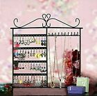 Adorox Earring Holder Jewelry Organizer Necklace Hanger Wall Stand Rack Black...
