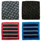 Lot of 4 Men's SANTOSTEFANO Woven Silk Handkerchief Pocket Square Bundle