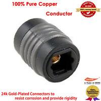 TosLink Optical Coupler Digital Audio Fiber Optic Female Extension Adapter-US