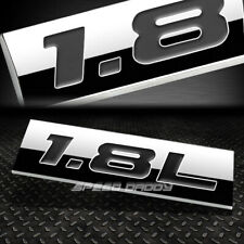 METAL EMBLEM CAR BUMPER TRUNK FENDER DECAL LOGO BADGE CHROME BLACK 1.8L 1.8 L