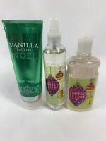 Lot Of 4 New Bath and Body Works Vanilla Noel Bean Mist Body Lotion Cream & Gel