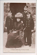 Vintage Postcard King George V & Queen Mary of Great Britian  & Sons