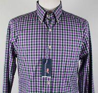 NWT vineyard vines Jefferson Plaid Slim Murray Sport Shirt MENS MEDIUM Purple