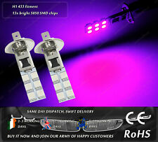 2x H1 433 LED Purple Pink HID Xenon Fog Bulbs DRL Lamps Running Lights Car 12v