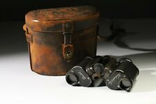 Rare Antique Cased Carl Zeiss Jena Feldstecher DRP Verge 8 Binoculars
