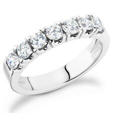 band in 14k white gold Pa-100W Diamond Prong Set 1Ct t annivesary