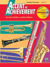 Accent on Achievement, Book 2 Combined Percussion---S.D., B.D., Access., Timp. &
