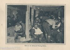"Original 1917 Anzac Print-Antique Vintage ""Scene in an Advanced Dressing Station"