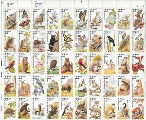 UNITED STATES , sheet of 50 Birds/Wildlife  MINT NH
