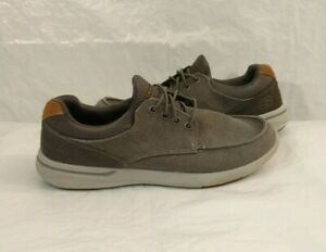 Skechers Elent Mosen Relaxed Fit Men's 10.5 Slip-On Boat Shoes Charcoal Gray