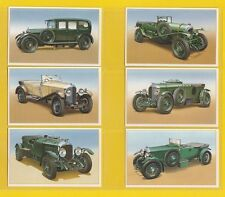 CARS  -  ROLLS ROYCE CARS  -  SET  OF  25  BENTLEY  CARS  2ND  CARDS - 1987
