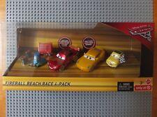 DISNEY Pixar Cars 3 Palla di Fuoco Beach RACE 4 Pack