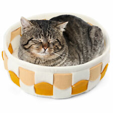 New listing Plush Pet Dog Cat Bed Fluffy Soft Warm Kitten Bed Puppy Sleeping Kennel Nest