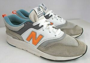 New Balance 997H Men 10 M Cloud Blue/Mango Suede Nylon Athletic Walking Sneakers