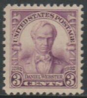 Scott# 725 - 1932 Commemoratives - 3 cents Daniel Webster Single