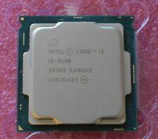 Intel Core i3-8100 CPU Processor 3.6GHz Quad-Core LGA1151 Socket 6MB SR3N5