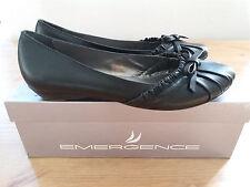 Chaussures EMERGENCE femmes escarpins plats NOIR Cuir 37 NEUFS Valeur = 69€