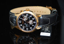 Arbutus Automatic 21 Jewel Power Reserve Rose Gold - Charcoal Soft Leather NIB