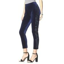 LABELLUM BY HILLARY SCOTT SEQUIN TRIMMED VELVET SLIM PANTS-SIZE 3X-ORIG $59.99
