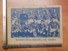 Vecchia foto stampa RICORDO DELLA SQUADRA DEL TORINO calcio 1949 con firme ? di