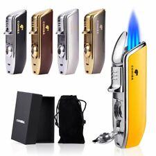 Cohiba Cigar Lighter Cigarette Triple Jet Flame Refillable Butane troch w/ Punch