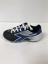 Diadora Ladro Mid Soccer Cleats Black/Blue/White Youth 12.5 M