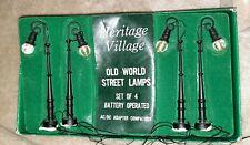 Dept 56 General Village 1989 Old World Street Lamps 4 Pc #55034 Retired 1991