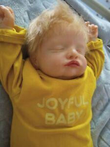"Reborn doll newborn boy 20""/50cm Rosalie asleep kit with COA"