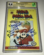 Charles Martinet & Kenny James Signed SUPERMARIO BROS 1 CGC 9.4 Signature Series