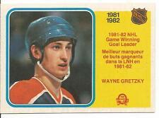 1982-83 OPC O-Pee-Chee Wayne Gretzky Game Winning Goal Leader #242 Near Mint