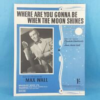Max Wall - Where Are You Gonna Be - Original Vintage Sheet Music 1950