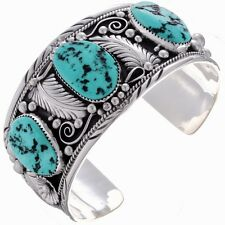 Navajo Big Boy Bracelet Mens Turquoise Silver Cuff