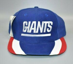 New York Giants Twins Enterprise Vintage 90's Striped Brim Snapback Cap Hat