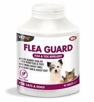 VETIQ FLEA GUARD DOG CAT NATURAL FLEA & TICK TABLETS 90 HEALTHY SKIN & COAT