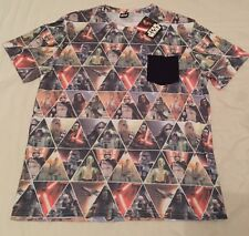 STAR WARS CHARACTERS ALL OVER PRINT MEN L T-SHIRT TEE Authentic *NEW* SALE!