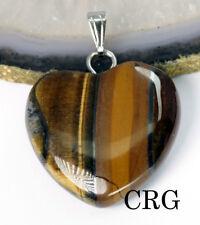 Tiger Iron Heart Pendant w/ Bail (HRT117)