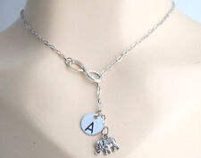 Infinity Elephant Necklace Personalized Infinty Elephant Infinity Necklace Laria