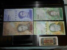 4    paper money    venezuela LETTERS  A  E  E  Z  (1) REPLACEMENT  purple