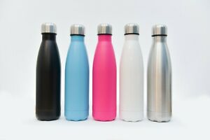 500ml Insulated Double Walled Stainless Steel Water Bottle, Assorted Colours