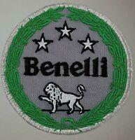 BENELLI LOGO TOPPE PATCH RICAMATE TERMOADESIVE DIAMETRO 8 CM