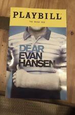 Dear Evan Hansen Playbill - Tony Award Rachel Bay Jones FINAL PERFORMANCE8/5/18