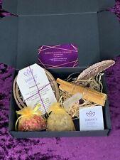 New White Sage Smudge & Crystal Healing Set Vegan Coconut Shells Spiritual Gift