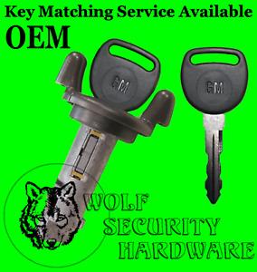 Buick Cadillac Pontiac Ignition Key Switch Lock Cylinder Tumbler 2 GM PK3 Keys