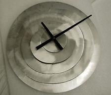 AMERICAN MADE BRUSHED ALUMINIUM  SPIRAL SHAPED WALL CLOCK MODEL STONEYBROOK #64