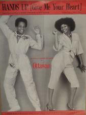 song sheet HANDS UP (give me yur heart) Ottawan 1981