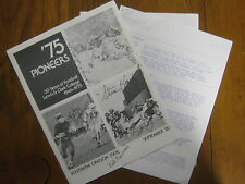 1975  LEWIS & CLARK College Game Program(30 Signers w/FRED WILSON (Died in 2011)