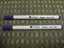 2  ERASABLE MARKING PEN Fabric Tailors Chalk Quilting Violet