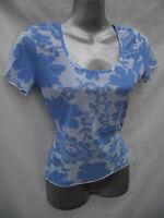 BNWOT Ladies Fisico Italian Short Sleeve Floral Print Top Sz 10 12 14 16 RRP $80