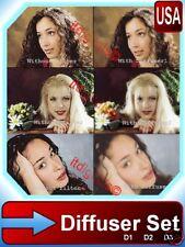 55mm Diffuser # 1 - 2 - 3 Soft Focus Filter Set 3P Kit D-1 D-2 D-3 New Portrait