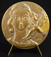 Médaille allégorie de la Poésie citation de Paul Valéry poetry medal